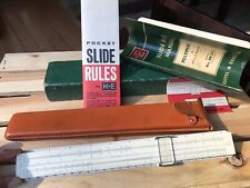 Vintage K&E Keuffel & Esser Slide Rule 68 1617 w/ Leather Case And Box