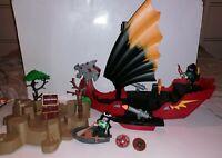Playmobil Ninja Samurai Dragon Warrior Boat 5481 with separate Island and extras