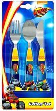 BLAZE Cutlery Set Child Knife Fork Spoon - Monster Machines Trucks - NEW