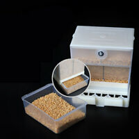 Automatic Seed Water Feeder Cage For Parrot Cockatiel Canary Bird Feeder 440ml