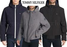 NEW TOMMY HILFIGER MENS SOFTSHELL HOODED BOMBER JACKET!...