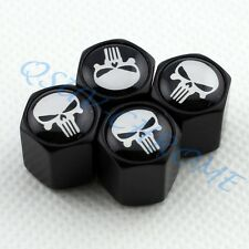 BLACK Auto Wheel Tire Valve Stem Air Caps Kit Skull Head Caribbean Pirate Beard