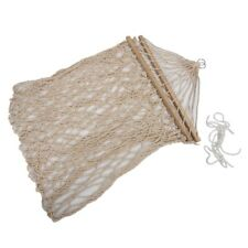 White Cotton Rope Swing Hammock Hanging on the Porch or on a Beach N4V7
