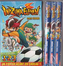 COFFRET INAZUMA ELEVEN tomes 1 à 3 Tenya Yabuno manga shonen série poster inclus