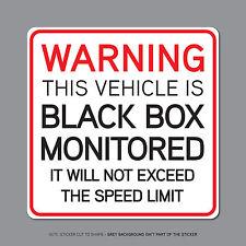 SKU2329-boîte noire surveillés-jeune conducteur voiture avertissement autocollant decal