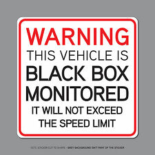 SKU2329 - Black Box Monitored - Young Driver Car Warning Sticker Decal