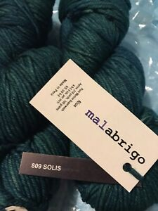 Lot of 2 Skeins Malabrigo Rios 100% Superwash Merino Yarn Solis #809