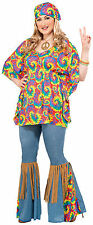 Hippie Chick Plus Size Costume Womens 70's Hippie Costume Womens Plus Size