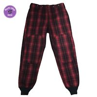 Vintage Woolrich Red Black Plaid Wool Pants Size 36 1993 Thick Warm