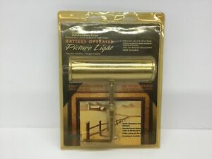 """Angelo  7 """" Standard Polished Brass Finish Battery Operated Picture Light 75070"""