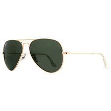 Ray-Ban Aviator Polarized Sunglasses 58mm Gold Tone RB3025