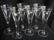 Set of 6 Aalborg Jubilæums Akvavit Cordial Danish Shot Glasses - EXCELLENT