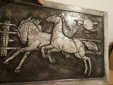 Pferde Stuck gips Pferd Ritchiech Skulptur Griechisches Bild Relief Greek