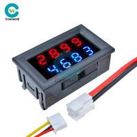 4-Bit DC 0-100V 10A Voltmeter Ammeter 0.28 inch Blue+Red LED Dual Volt Meter