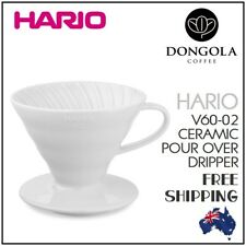 HARIO V60-02 CERAMIC DRIPPER Pour Over Coffee Cone Drip Filter Brewer 2-4 Cup
