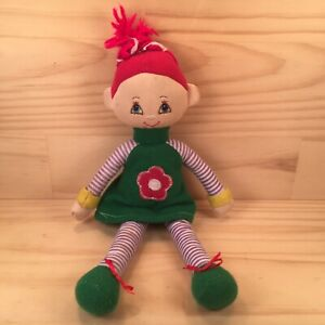 """POLLY THE DOLLY """"Green"""" Sweet Small Size Kids Cloth Doll Soft Toy Stuffed Friend"""