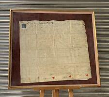 More details for original framed & glazed george iii velum indenture of irish origin