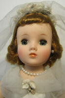 "Original Beautiful Madame Alexander 15 1/2"" Elise Bride Doll Tagged Dress"
