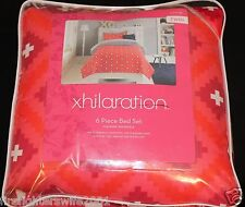 Xhilaration Diamond Twin 6 pc comforter set comforter sheets pillow pink blue