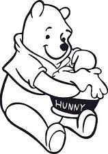 Winnie the Poo Bear550mm high Vinyl Decal Sticker Wall Art