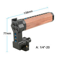 CAMVATE Quick Wooden Top Handle NATO Rail for DSLR Camera Cage Camcorder RED Rig
