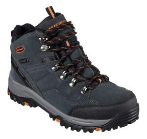 SKECHERS Men's Relaxed Fit Waterproof Trail Boots, Medium and Extra Wide 4E