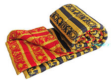 "VERSACE Baroque Medusa Comforter King Size - quilted - Red/Black 106"" x 106"""