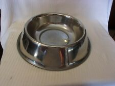 "Stainless Steel Large Dog Bowl 13.25"" Diameter 3.25"" Deep"