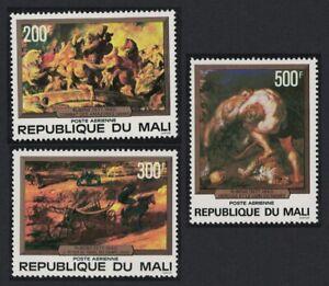 Mali Paintings Peter Paul Rubens 3v 1978 Def SG#616-618 CV£5.25
