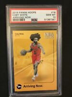 2019-20 Panini NBA Hoops Coby White Arriving Now Rookie PSA 10 Chicago Bulls RC