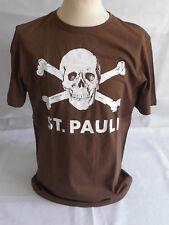 1.fc St. Pauli - Totenkopf T-shirt braun Grösse M