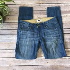 Paige Skyline Ankle Peg Skinny Jeans Medium Wash Women's 26 Denim Pants Blue