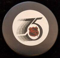 LOS ANGELES KINGS LA 75 SEASONS ZIEGLER  NHL  OFFICIAL GAME PUCK CANADA HOCKEY