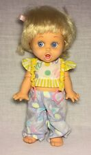 Vintage 90s Galoob Baby Face So Surprised Susie Blonde Hair Blue Eyes