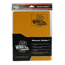 MATTE SUNFLOWER ORANGE Monster Binder Side-Loading 9-Pocket Card Album/Portfolio