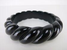 Rope Bangle 50s Pinup Rockabilly Vintage Bangles Black Noir Twist Retro Carved