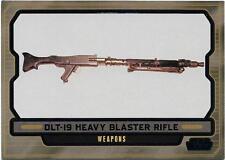 2013 Topps Star Wars Galactic Files Series 2 Blue Foil #615 DLT-19 Heavy Blaster