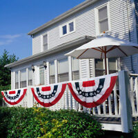 Printed Stripes Stars US Pleated Fan Bunting Half Banner Flag for July 4th3_EO