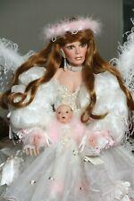 """ANGEL BABY"" ELEGANT FAIRY/ANGEL PORCELAIN DOLL, RUSTIE/ RUBERT, BRAND NEW!"
