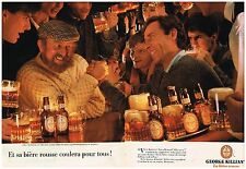 Publicité Advertising 1985 (2 pages) La Bière Rousse George Killian's