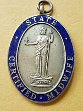 More details for vintage enamel nursing badge state certified midwife dated 1944