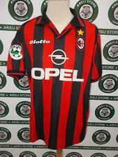 maglia calcio shirt maillot camiseta trikot MILAN WEAH TG XL 1997-98 SIGNED