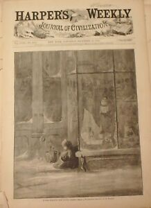 Harper's Weekly Christmas 1874 Santa Claus Saint Nick Elves