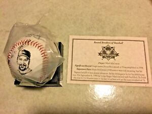 Mark McGwire Baseball with Record History, Picture & Replica Autograph New