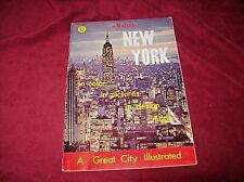 Vintage 1968 Nester's New York City Color Tour Guide, Pictures and Maps.
