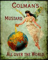 Colmans English Mustard VINTAGE ADVERT Art Print Poster - A1 A2 A3 A4 A5