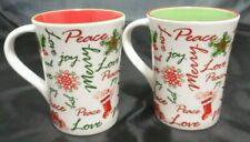 STARBUCKS Set of 2 CHRISTMAS HOLIDAY Coffee Tea Mugs Cups 12 oz.