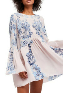 Free People Damen Symphony Kleid Entspannt Neutral Rosa Größe XS
