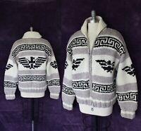 VTG  L.L. Bean Cowichan Cardigan  sweater jacket Thunderbird  Wool Eagle Canada