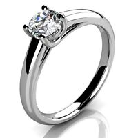 Certified 1/2 Ct Round Diamond Solitaire Engagement Ring,Platinum